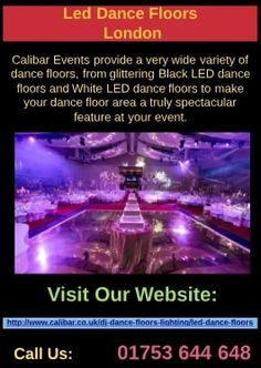Calibar Provide a very wide variety of dance floors, from glittering Black LED dance floors and White LED dance floors to bespoke dance floors such as Silver Mirror dance floors and Gold Mirror dance floors to make your dance floor area a truly spectacular.