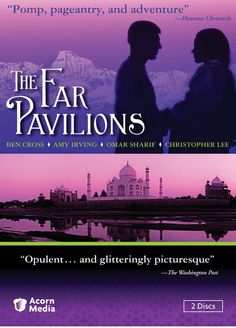 A haunting tale of the love of an English officer for an Indian princess, set against the splendor of Imperial India in the 19th century. http://ccsp.ent.sirsi.net/client/en_US/hppl/search/results?qu=FAR+PAVILLIONS&qf=ITEMCAT3%09Format%091%3ADVD%09DVD&lm=HPLIBRARY&dt=list