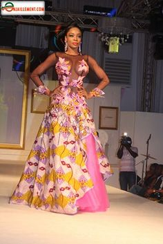 robe du soir wax ~African Prints, African women dresses, African fashion styles, african clothing