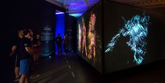Nike installation, colorful,UX, animation,patterns,interactive...