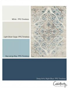 Monday: Entryway Decor Options How to create a color palette for a space from a rug.How to create a color palette for a space from a rug. Bedroom Colors, Home Decor Bedroom, Entryway Decor, Living Room Decor, Bedroom Curtains, Interior Paint Colors, Paint Colors For Home, House Colors, Paint Colours