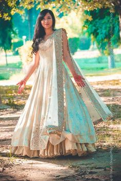 Lacha White Indian Fashion