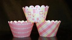 Quantity of 12 Cupcake Wrapper  Baby Girl Shower by BlingForU2, $7.50