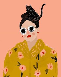 Ilustration by Holly Jolley We're illustration lovers here. Are you an aspiring graphic designer? Feed your design hunger at Referential Treatment. See more 2019 illustrations, drawings, doodles, sketches, and the like on this board. Kunst Inspo, Art Inspo, Painting Inspiration, Art And Illustration, Portrait Illustration, Pattern Illustration, Character Illustration, Art Pop, Portraits Illustrés