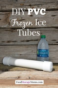 DIY PVC Frozen Ice Tubes-easy to make for coolers and lunch boxes by FoodStorageMoms.com