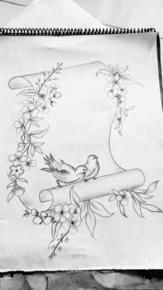 Vogel Tattoo Ideen Rippen - are in the right place about baby bird Here we offer you the most beautiful pictures about the bird vector you are looking for. When you examine the Vogel Tattoo Ideen Rippen - Art Drawings Sketches Simple, Girl Drawing Sketches, Design Art Drawing, Pencil Art Drawings, Cute Drawings, Drawing Drawing, Pattern Drawing, Drawing Birds, Pencil Sketch Drawing