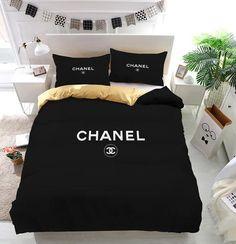 Chanel Logo Custom Bedding Set Duvet Cover