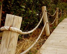 lovely rope fence