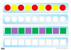Activities based around continuing simple patterns which include 2D shapes. All patterns included use 2 or 3 colours colours but only one shape. Pupils can recreate and copy the patterns using plastic shapes or, if preferred, pupils can copy the patterns using coloured pencils.