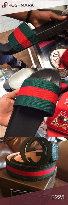 Sandals Bundle Sandals , Belt and Watch included  InStock Hit me Up or Visit my Instagram @DirtySouth_Socket @DirtySouth_Socket $225.00 a Bundle 🔌 Gucci Shoes Sandals & Flip-Flops