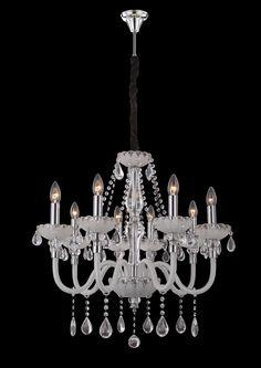 Kronleuchter Milano Weiß Grande Klassisch Kristall , B - Kronleuchterhaus…