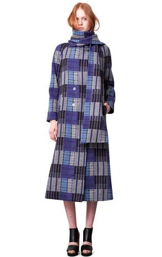 Rodebjer Coat Mola with detachable scarf
