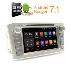 Android 7.1 2G RAM Car DVD Stereo Multimedia Headunit For Toyota Avensis/T25 2003-2008 Auto Radio GPS Navigation Video Audio