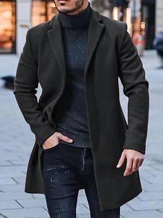 Winter Trench Coat, Winter Overcoat, Wool Trench Coat, Cool Jackets, Fleece Hoodie, Top Coat, Winter Collection, Hats For Men, Wool Blend