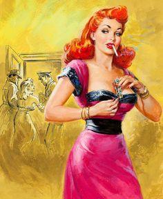 Best True Detective cover, July Not signed – Pin Up Girls Pulp Fiction Art, Pulp Art, Fantasy Magic, Dark Fantasy, Pin Up Girls, Bad Girls, Girls Club, Wallpaper Animé, Art Hipster