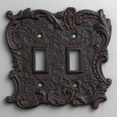 Double Cast Iron Switch Plate-Double Cast Iron Switch Plate | World Market