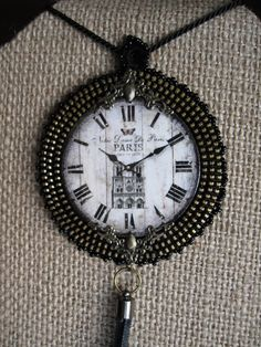 Hey, I found this really awesome Etsy listing at https://www.etsy.com/listing/260300130/clock-with-paris-zipper-necklace