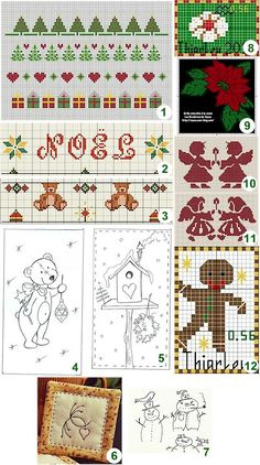 Free patterns and charts: Christmas ·