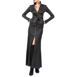 #tenuedesaf #blackdress Dresses For Work, Coat, Jackets, Fashion, Down Jackets, Moda, Sewing Coat, Fashion Styles, Coats
