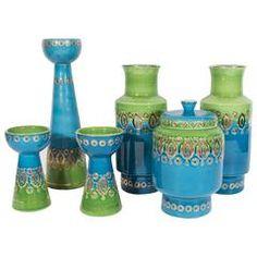 Set of Glazed Ceramic Objects by Bitossi for Rosenthal Netter