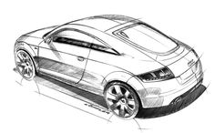 Audi TT Design Sketch - Car Body Design