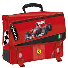 FERRARI Exclusive satchel for young Ferrari fans. If you love its handy and practical style buy it on store.ferrari.com. #FerrariStore #satchel #kids