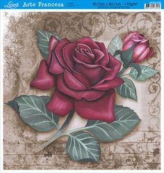 Rose Heart Tattoo, Rose Drawing Tattoo, Rose Clock, Raindrops And Roses, Fabric Paint Designs, Plaster Art, Floral Artwork, Decoupage Vintage, Rose Art