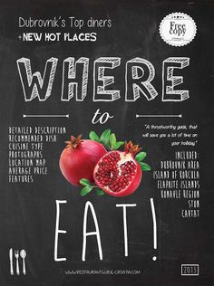 WHERE TO EAT 2013 restaurant guide cover page design