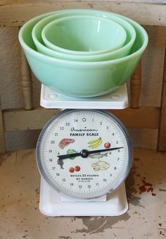 Vintage White American Family Scale Shabby by TheFarmhousePorch, $22.00