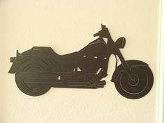 Motorcycle 16 Gauge Plasma Cut Metal Wall by Metalheadartdesign, $69.99