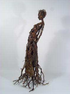 "Roots tree bark, pine tree roots, polyurethane 25.75"" x 14"" x 12"" SOLD"