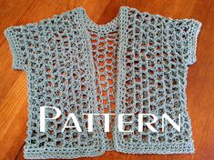 Crochet PATTERN Quick Lattice Cardigan Shrug DIY Easy Big Hook Cotton Summer Sweater