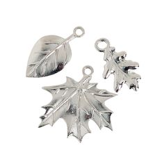 Silvertone Leaf Charms - OrientalTrading.com We could add these to the acorns or pinecones if we wanted to make it more nature themed. These come 24 for $6.50. Not bad at all.