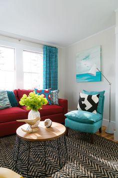Colorful Interiors. How to decorate Colorful Interiors without going overboard. #ColorfulInteriors Rachel Reider Interiors.