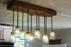 farmhouse light fixtures | Kitchen Renovation Makeover Progress – Before and After!