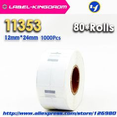 [Visit to Buy] 80Rolls Dymo Compatible 11353 Label 12mm*24mm 1000Pcs/Roll Compatible for LabelWriter 400 450 450Turbo Printer Seiko SLP 440 450 #Advertisement