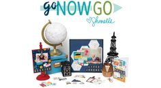 Pack a bag and capture the spirit of adventure with Go Now Go by Shimelle. Classic travel icons are presented in Shimelle's signature color palette of deep red, aqua blue, dark orange and cheerful yellow. Scrapbook Supplies, Scrapbook Paper, Scrapbooking, Travel Icon, American Crafts, Book Binding, Project Life, Aqua Blue, Besties