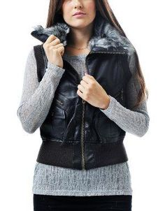 (CLICK IMAGE TWICE FOR DETAILS AND PRICING) Daylamy Leatherette Vest Brown. This trendy vest looks fab with your warm turtleneck and fitted jeans.. See More Coats and Jackets at http://www.ourgreatshop.com/Coats-and-Jackets-C76.aspx