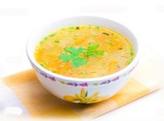 Bowl of chicken soup over yellow napkin Royalty Free Stock Photo Thai Recipes, Healthy Chicken Recipes, Restaurant Reservations, Mets, Chicken Soup, Easy Cooking, Chocolate Recipes, Mango, Good Food