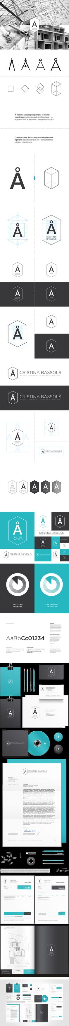 Cristina Bassols visual Identity  | #stationary #corporate #design #corporatedesign #identity #branding #marketing < repinned by www.BlickeDeeler.de | Take a look at www.LogoGestaltung-Hamburg.de
