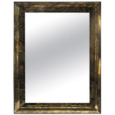 Marbleized Smoked Glass Mirror