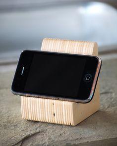 iPhone speaker dock in Baltic Birch Plywood