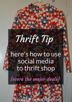 Thrift Shopping Haul - Plus How to Use Social Media to Thrift