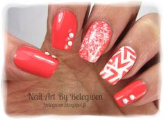 Nail Art by Belegwen: Poshe base coat, OPI Toucan Do It If You Try, Gina Tricot White and Poshe Fast Drying