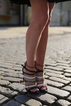 """If these shoes don't say """"I'm just going to run around Italy looking fabulous"""", we don't know what does! #sandals #strappy #heels"""