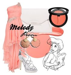 """""""Melody Prom"""" by amarie104 ❤ liked on Polyvore featuring Hourglass Cosmetics, Givenchy, Forever Unique, Badgley Mischka, Rosita Bonita, Sephora Collection and Disney"""