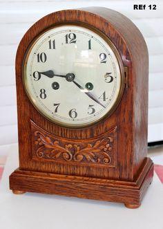 Antiguo Reloj Sobremesa, Tipo Bracket, Funciona, ver video, ref 12 | eBay