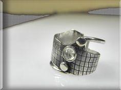 contemporary organic sterling silver modern by VESNAjewelryART
