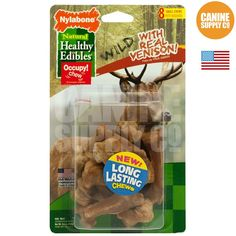 Healthy Edibles Wild Venison Dog Chew Treats - All Sizes