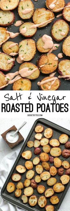#ad by @mortonsalt These Salt & Vinegar Roasted Potatoes are slightly tangy and feature Kosher salt for a pop of flavor and wonderfully crunchy texture. #potatoes #sideddish #easyrecipe #easyrecipes